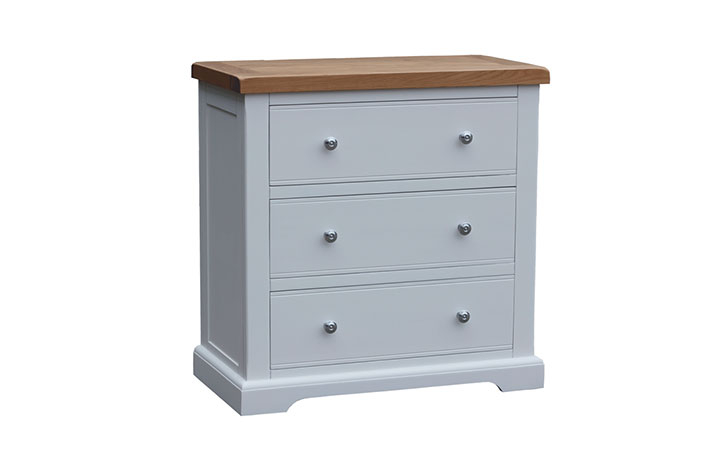 chest-of-drawers - Suffolk Painted 3 Drawers Wide Wellington