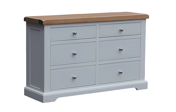 chest-of-drawers - Suffolk Painted 2 by 2 by 2 Window Height Chest of Drawers