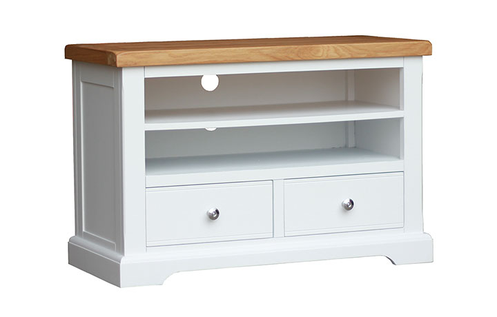 TV Cabinets - Suffolk Painted 2 Drawer TV Unit