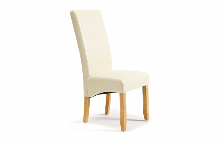 Chairs & Bar Stools - Merton Cream Faux Leather Chair