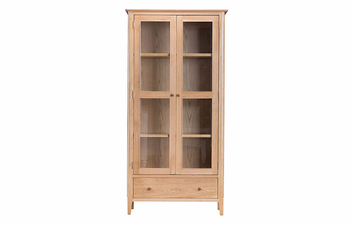 Display Cabinets - Odense Oak Display Cabinet