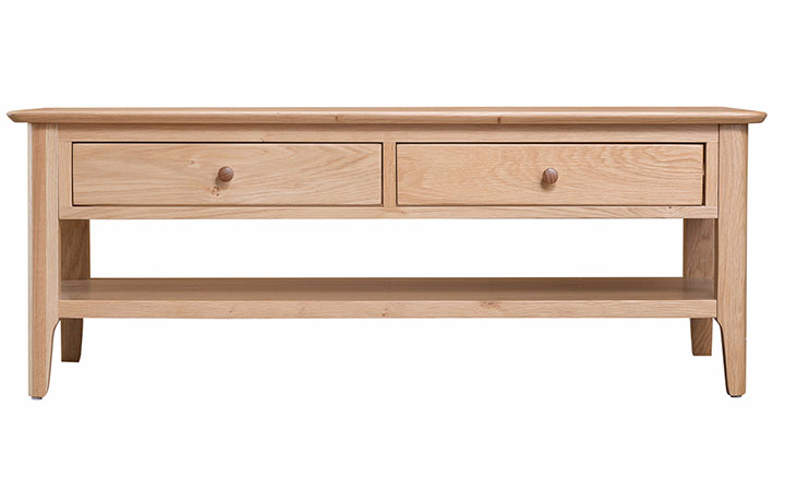 Coffee Tables - Odense Oak Large coffee table with drawers