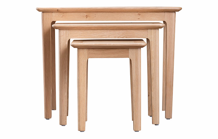 Nested Tables - Odense Oak Nest Of 3 Tables