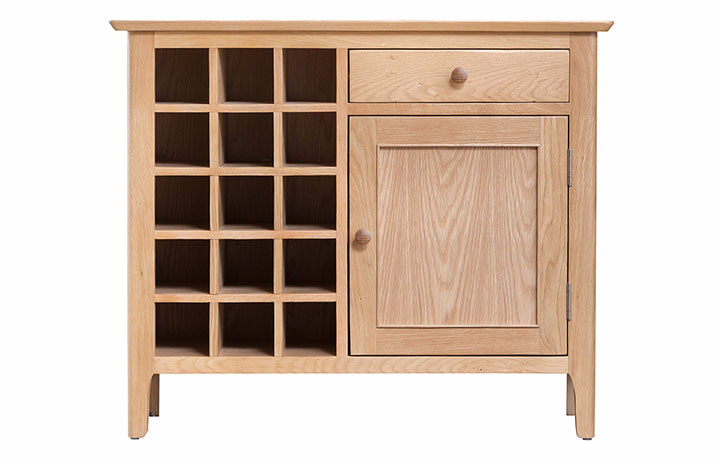 Display Cabinets - Odense Oak Wine cabinet