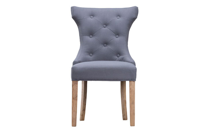 Odense Oak Furniture Collection - Grace Grey Upholstered Dining Chair