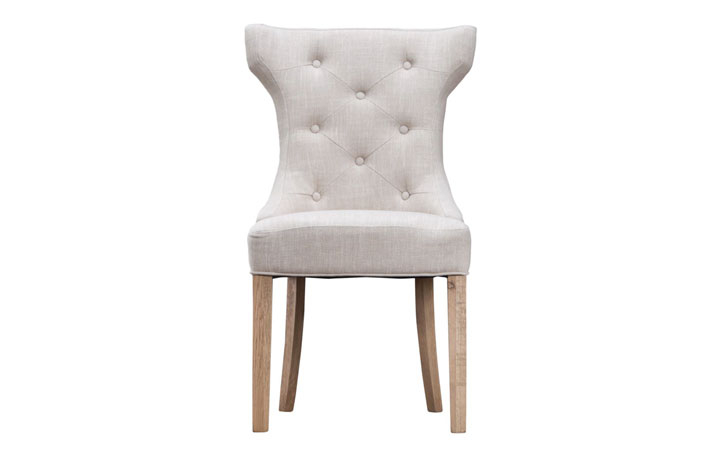 Odense Oak Furniture Collection - Grace Beige Upholstered Dining Chair