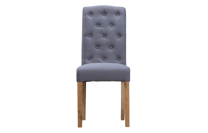 Odense Oak Furniture Collection - Vienna Grey Upholstered Chair