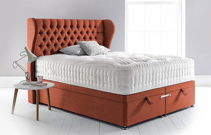 3ft-single-mattress-and-divan-bases - 3ft Single Space 3000 Mattress With 2 Drawer Divan Base