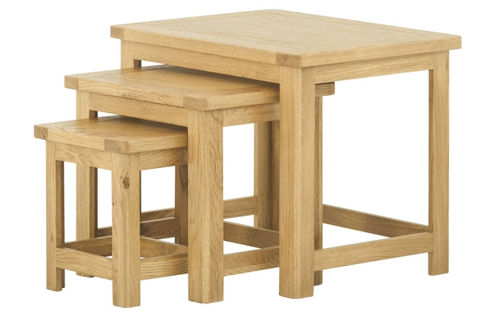 Nested Tables - Pembroke Oak Nest of Tables