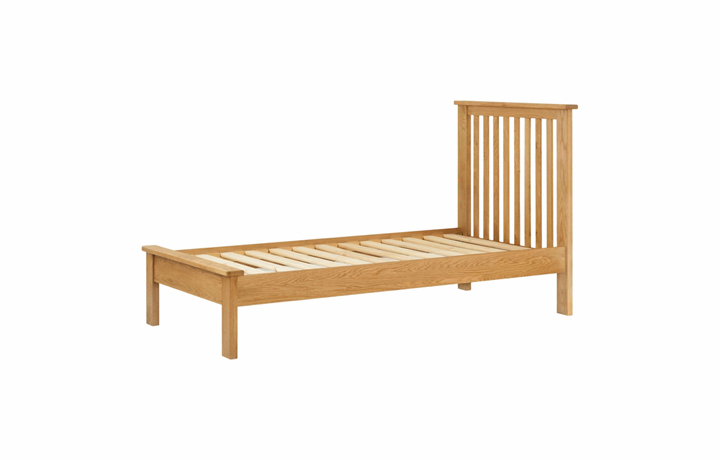Beds & Bed Frames - 3ft Pembroke Oak Single Bed Frame
