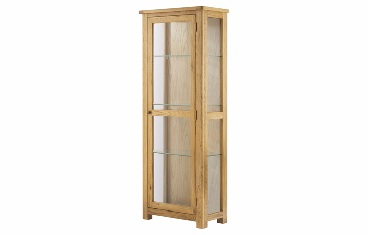 Display Cabinets - Pembroke Oak Glazed Display Cabinet