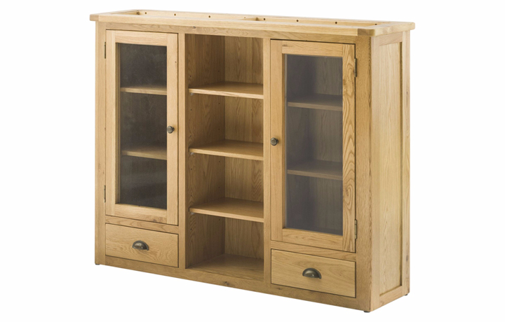 Dresser Tops & Larder Units - Pembroke Oak 3 Door Dresser Top