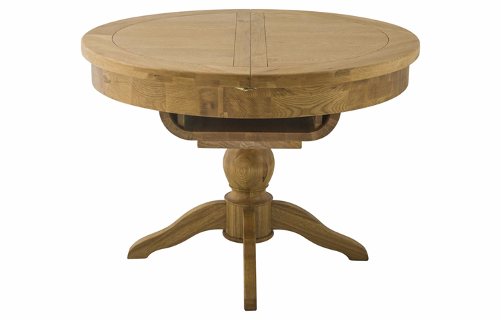 Dining Tables - Pembroke Oak Round Butterfly Extending Dining Table