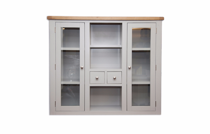 Dresser Tops & Larder Units - Henley Grey Painted Grey Large Dresser Top