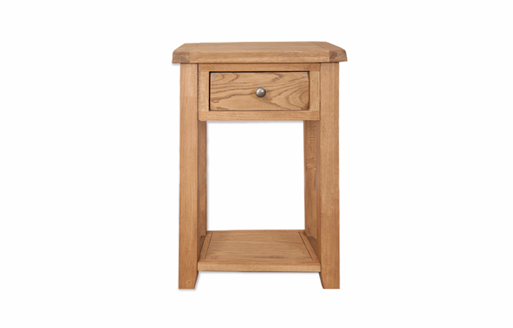 consoles - Windsor Rustic Oak 1 Drawer Console Table