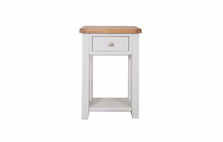 Henley Grey Painted Collection - Henley Grey Painted 1 Drawer Console Table