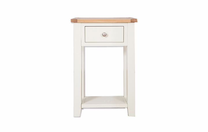 Chelsworth Ivory Painted Collection - Chelsworth Ivory Painted 1 Drawer Console Table