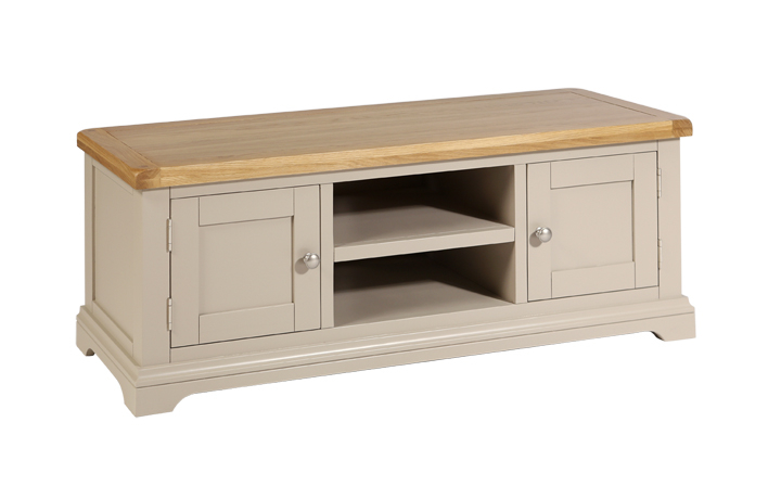 TV Cabinets - Henley Truffle Painted Large TV Cabinet