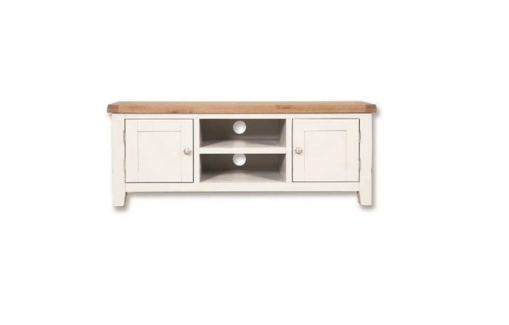 TV Cabinets - Henley White Painted Large TV Cabinet