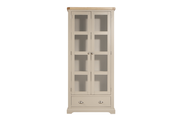 Display Cabinets - Henley Truffle Painted Display Cabinet