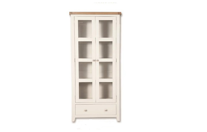 Display Cabinets - Henley White Painted Display Cabinet