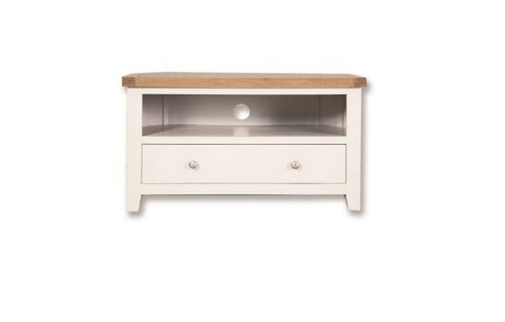 Henley White Painted Collection - Henley White Painted Corner TV Cabinet