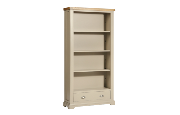 Bookcases - Henley Truffle Painted Large Bookcase