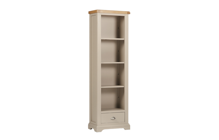 henley-truffle-painted-collection - Henley Truffle Slim Bookcase