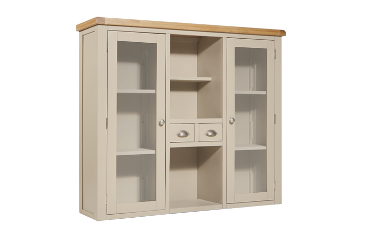 Dresser Tops & Larder Units - Henley Truffle Painted Large Dresser Top