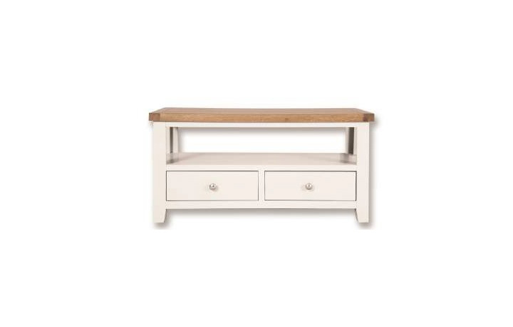 TV Cabinets - Henley White Painted Coffee / TV Table