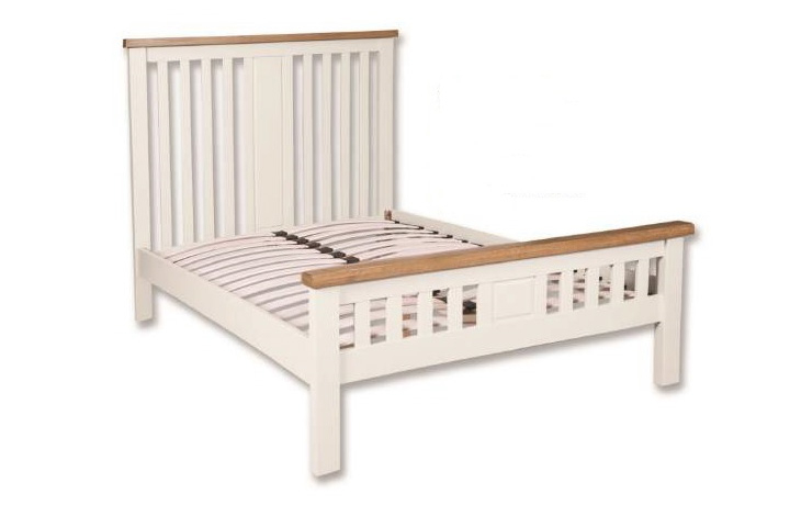 Bed Frames - 5ft Henley White Painted  King Size Bed Frame