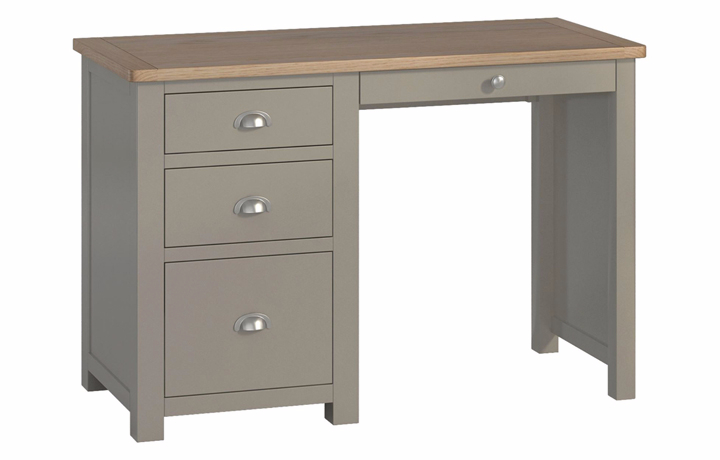 Office Furniture - Pembroke Stone Painted Office Single Pedestal Desk