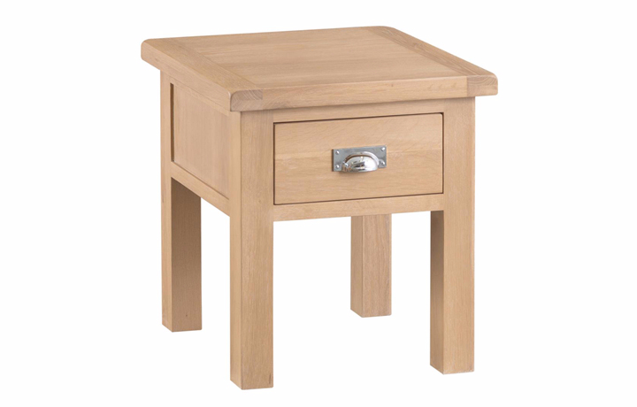 burford-washed-oak-range- - Burford Oak Lamp Table (with drawer)