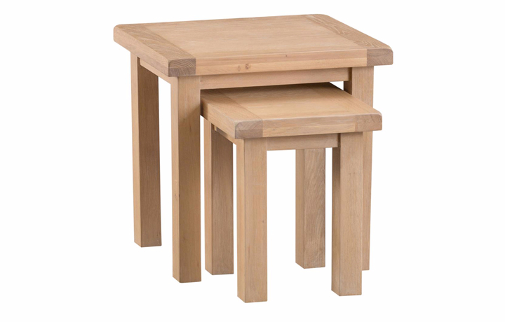 burford-washed-oak-range- - Burford Oak Nest of 2 Tables