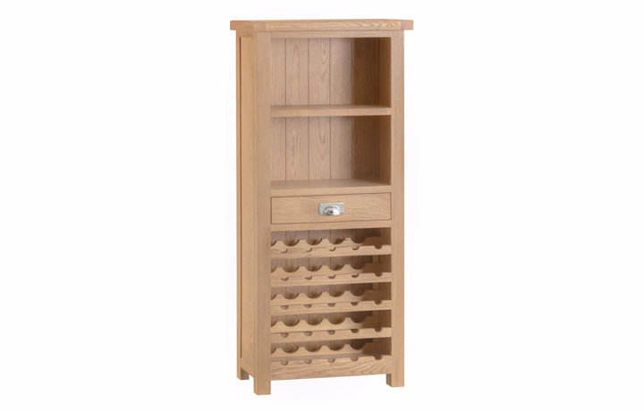 Display Cabinets - Burford Oak  Wine Rack Cabinet