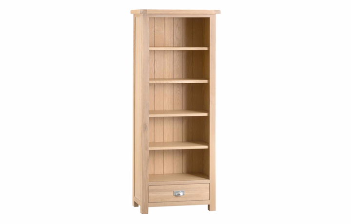Bookcases - Burford Oak Medium Bookcase