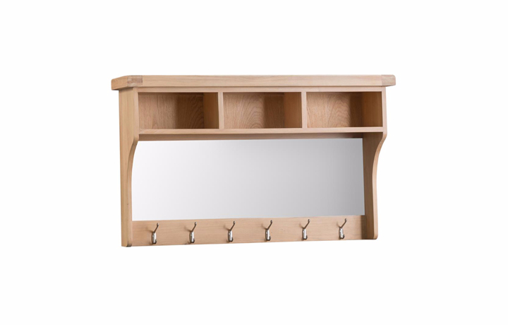 Mirrors - Burford Oak Hall Shelf Unit