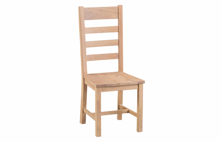 burford-washed-oak-range- - Burford Oak Ladder Back Chair Wooden Seat