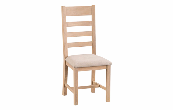 burford-washed-oak-range- - Burford Oak  Ladder Back Chair Fabric
