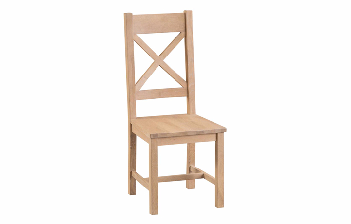 burford-washed-oak-range- - Burford Oak Cross Back Chair Wooden Seat