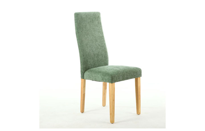Chairs & Bar Stools - Holborn Chenille Effect Olive Green Dining Chair