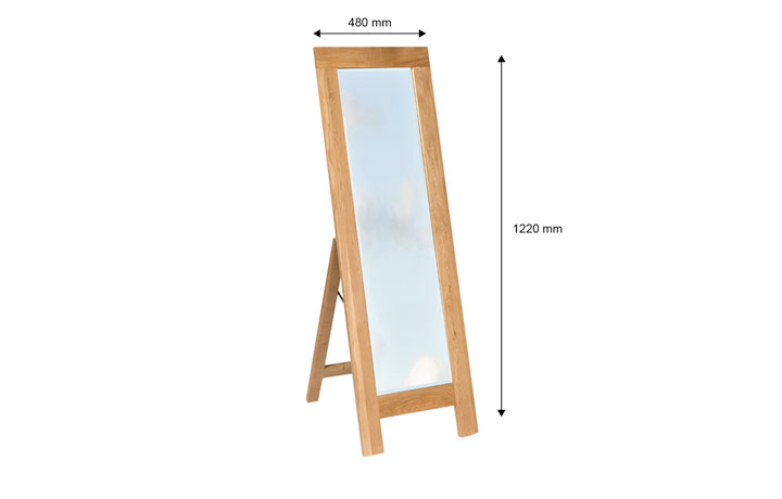 Kensington Oak Range - Kensington Oak Cheval Mirror