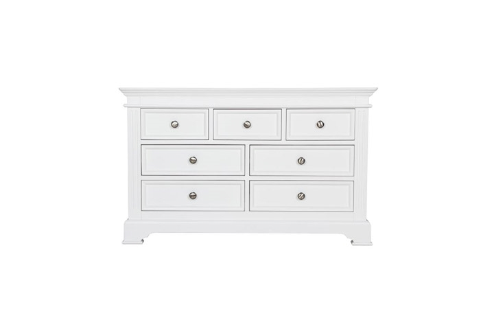 Chest Of Drawers - Loire White Painted 3 Over 4 Chest