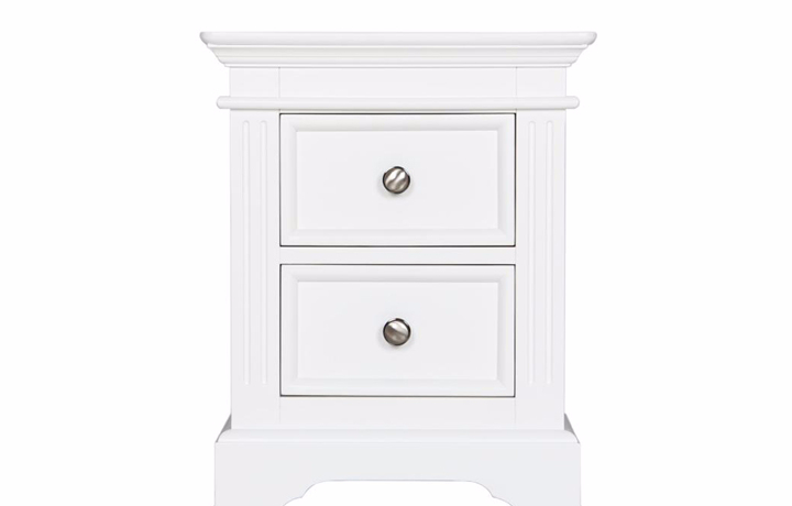 Bedsides - Loire White Painted 2 Drawer Bedside