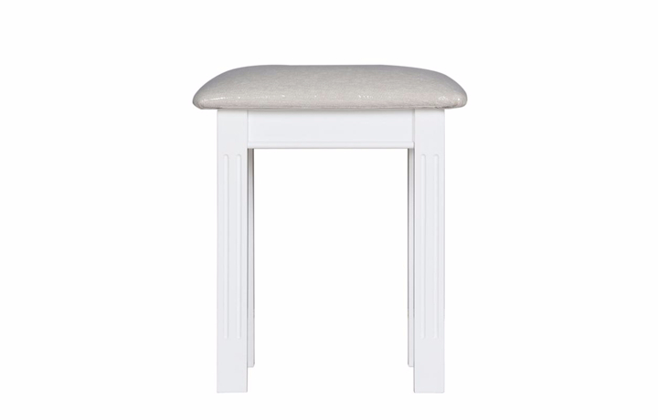 dressing-tables-and-stools - Loire White Painted Dressing Stool