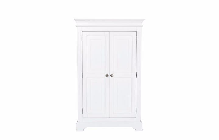 wardrobes - Loire White 2 Door Small Wardrobe