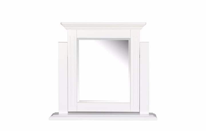 dressing-tables-and-stools - Loire White Painted Trinket Mirror