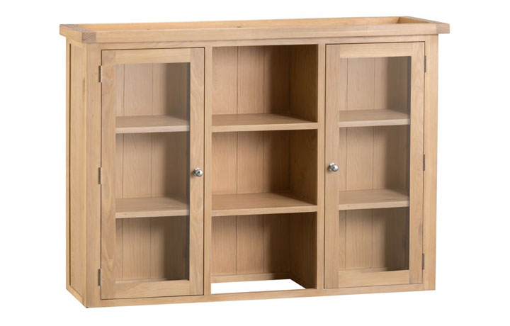 Dressers - Burford Oak Large Glazed Dresser Top