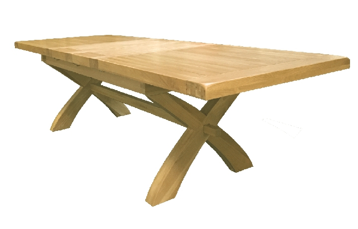 Dining Tables - Suffolk Deluxe Oak 200-280cm Twin Leaf Extending Dining Table