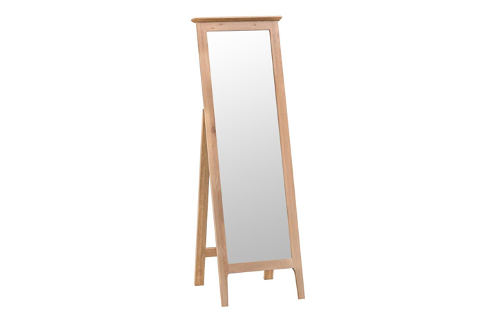 Odense Oak Furniture Collection - Odense Oak Cheval Mirror